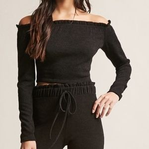 Off-Shoulder Crop Top NWOT